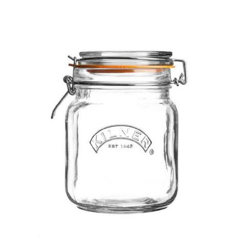 Kilner Large 1.5L Square Glass Clip Top Jar
